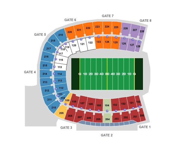 Smu Gerald Ford Stadium Seating Chart